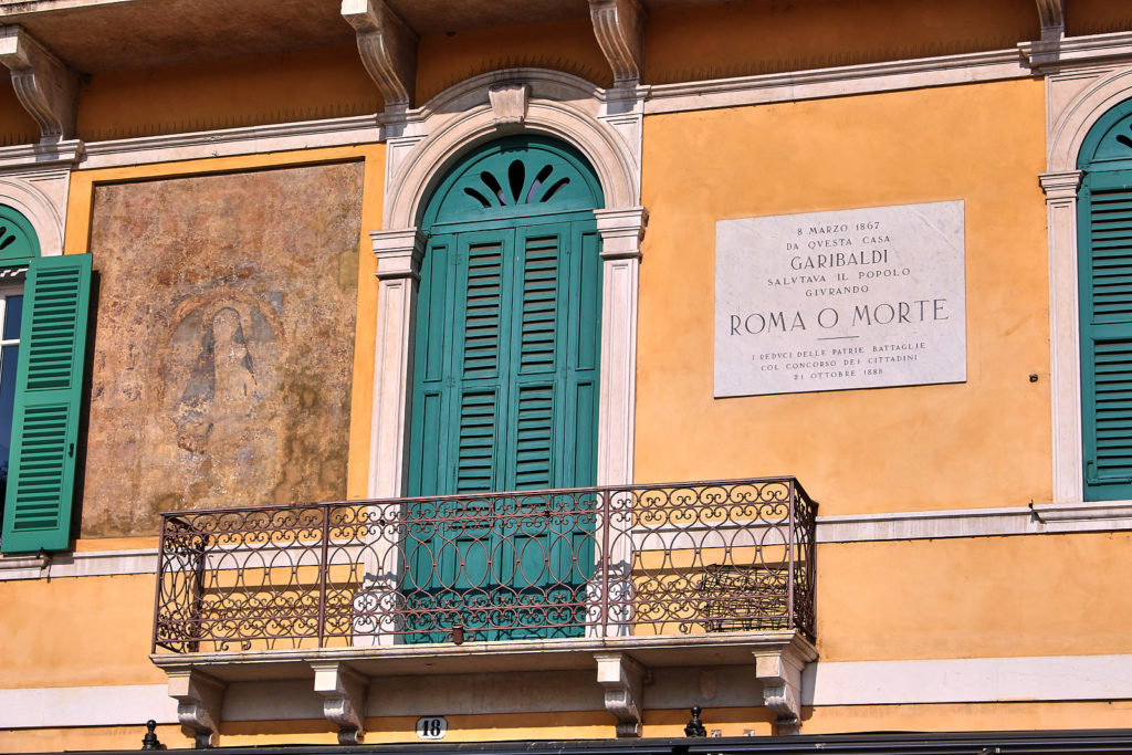 Hausfassade in Verona