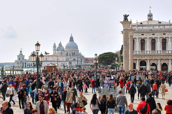 Menschenmassen, Venedig